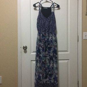 Maurice's small purple floral maxi dress
